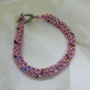 Jewelry - Spring Flowers hand beaded bracelet